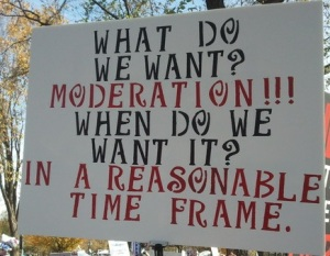 What do we want? Moderation!